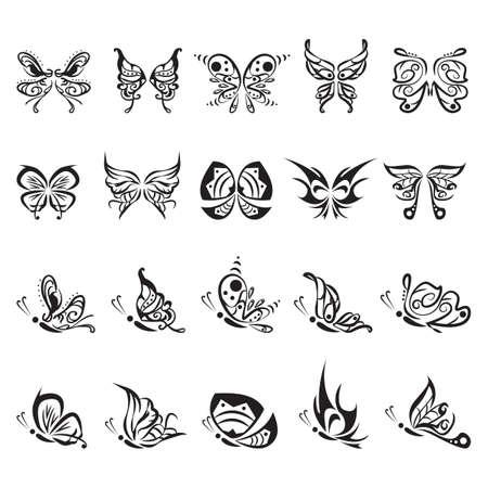 Tatouage de papillon jeu Banque d'images - 52549679