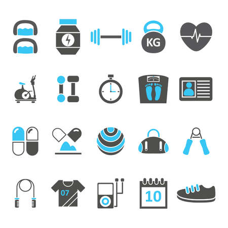 pulse: set of fitness icons