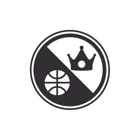 バスケット ボール ワッペン  イラスト・ベクター素材