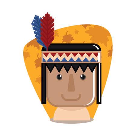 pilgrim costume: native american indian man