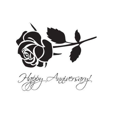 happy anniversary: happy anniversary card with rose
