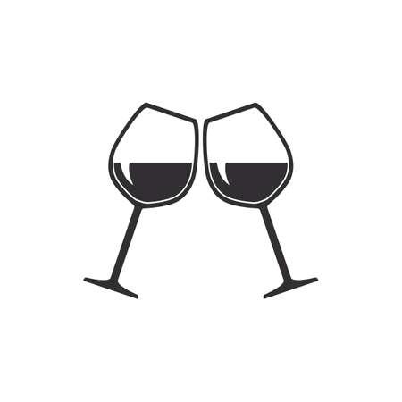 kieliszki do wina Ilustracje wektorowe