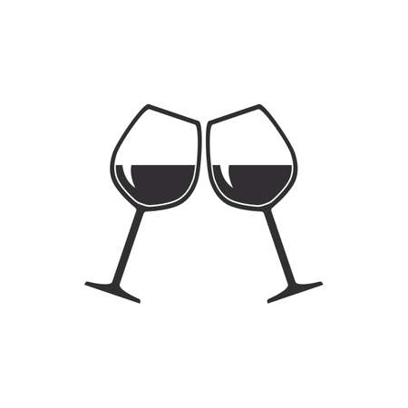 pair of glasses: wine glasses Illustration