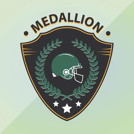 medallion: medallion shield of american football