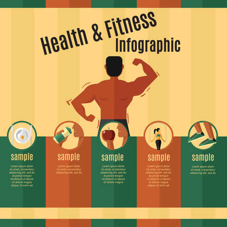 energy drink: health and fitness infographic