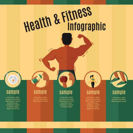 salud y estado físico infografía