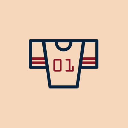 sports jersey: american football jersey Illustration