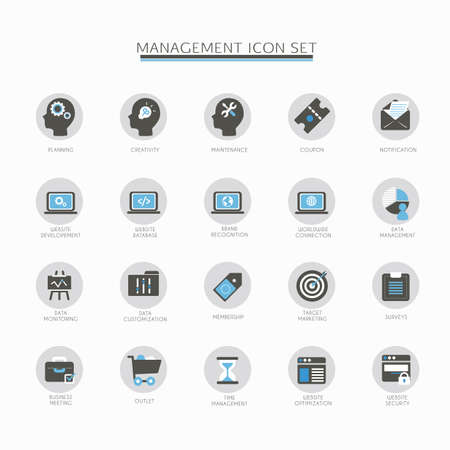 brand monitoring: management icon set