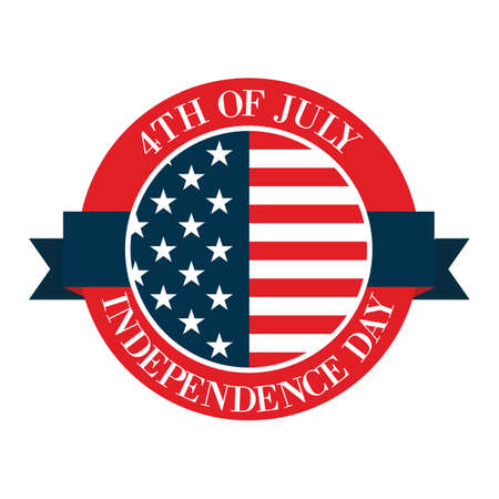 4th: 4th of july independence day label