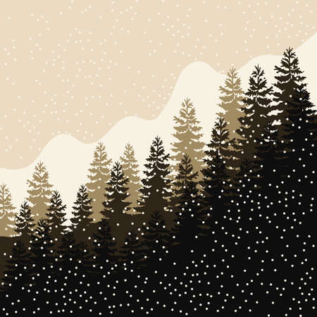snowfall: forest landscape with snowfall