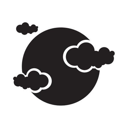 maan en wolken