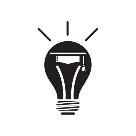 mortarboard: mortarboard in a bulb