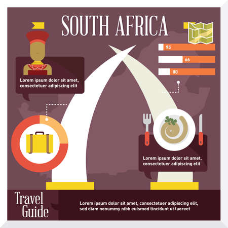 south africa: south africa travel infographic Illustration