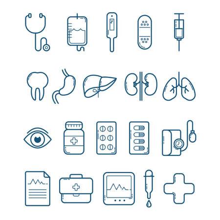 eye bandage: doctor icons Illustration