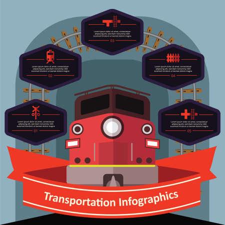 ladder  fence: transportation infographic Illustration