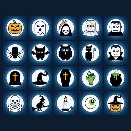 set of halloween icons Illustration
