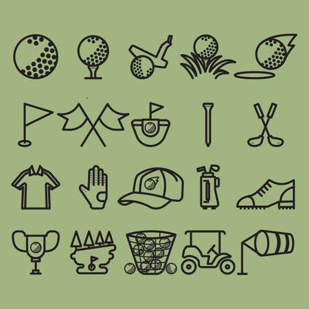 golf glove: golf icon collection