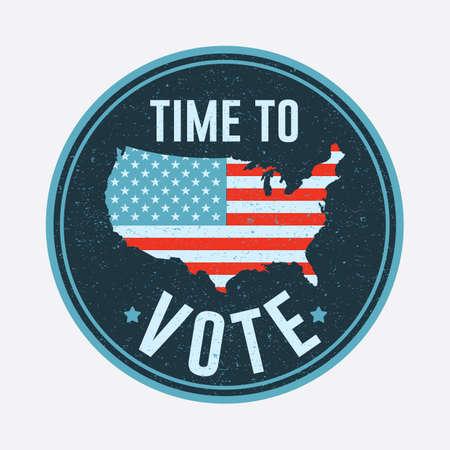 선거 투표 배지 일러스트