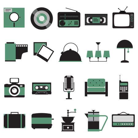 casette: retro icons Illustration
