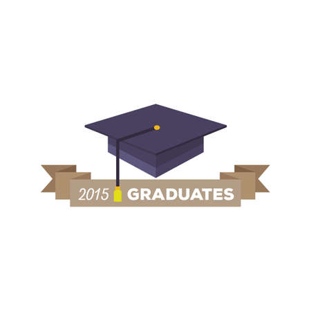 two: two thousand fifteen graduates banner Illustration