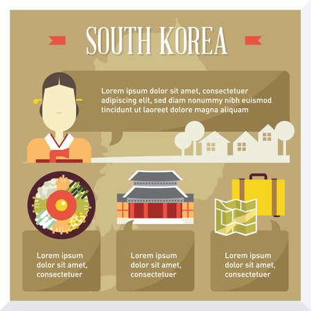 Südkorea Reise Infografik Vektorgrafik