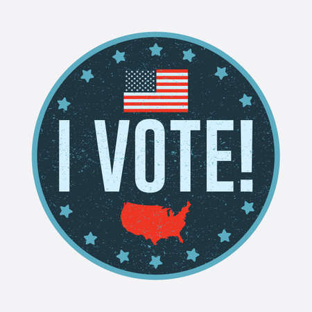 president of the usa: election vote badge