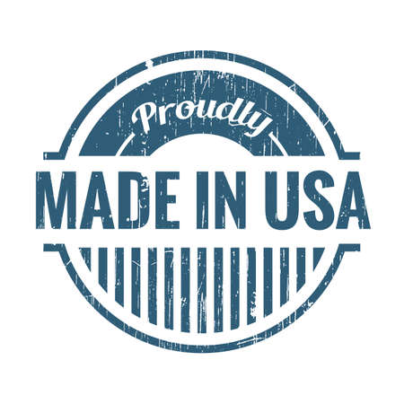 proudly: made in usa label Illustration