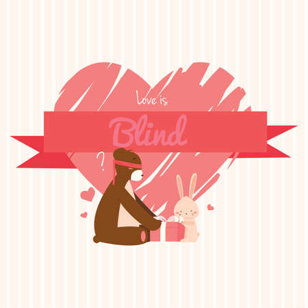 blindfold: valentines day vector
