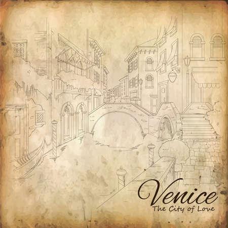 built structure: city of venice Illustration