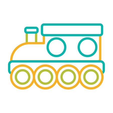 baby toy: baby train toy Illustration