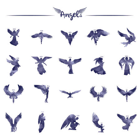 set of angels Illustration