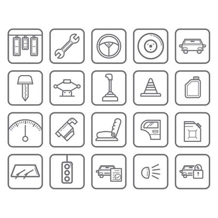 wipers: collection of car equipment Illustration