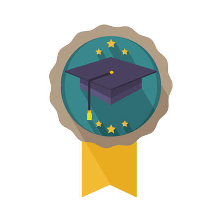 graduation hat badge