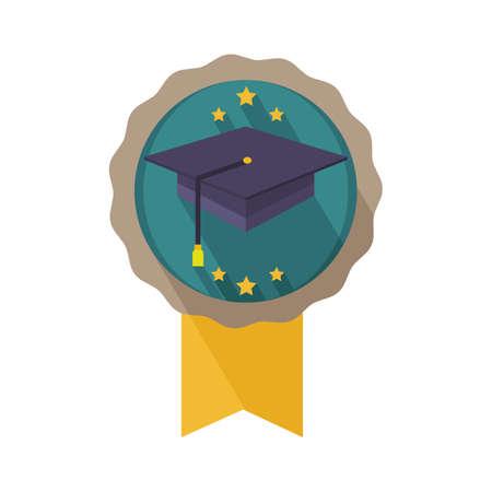 graduation hat badge
