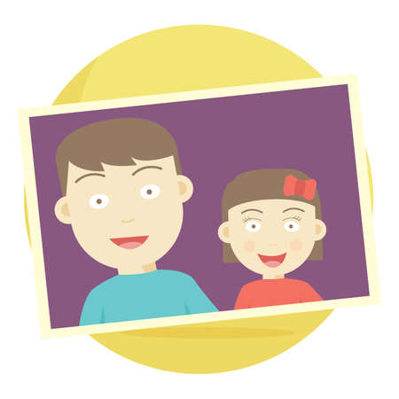 photograph: photograph of brother and sister