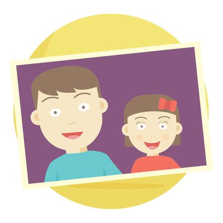 fotografía de hermano y hermana