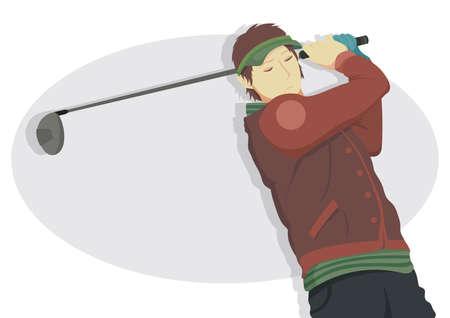 drivers: male golfer Illustration