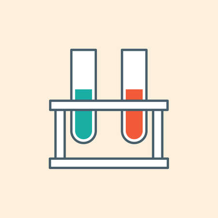 test tubes: test tubes on rack Illustration