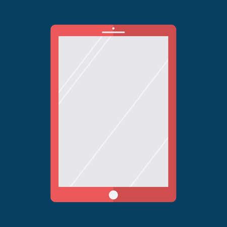 eletrical: tablet computer Illustration