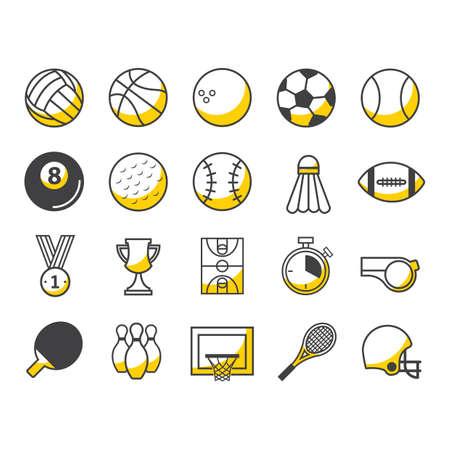 american football helmet set: set of sports icons
