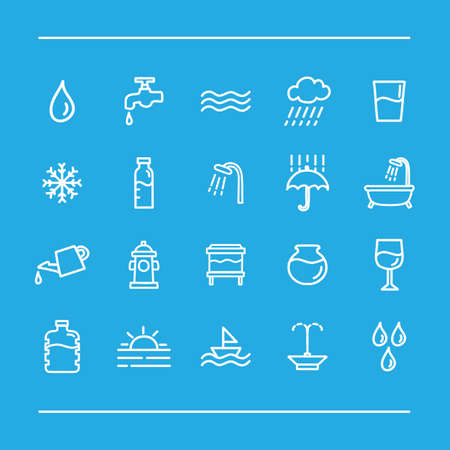 assorted: assorted water icons set
