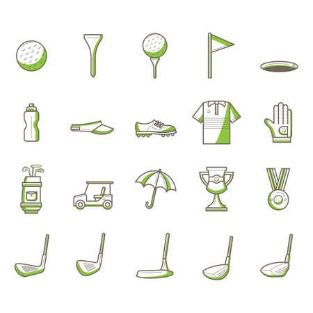 Golf-Ikonen-Sammlung Vektorgrafik
