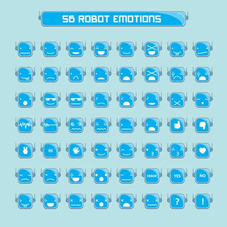 exclamatory: emoticons of robot Illustration