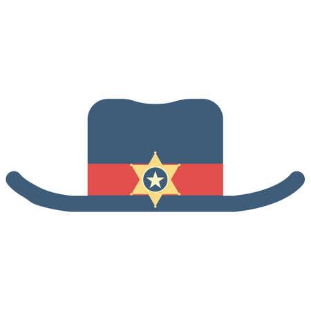 headwear: sheriff hat