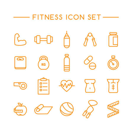 gripper: set of fitness icons