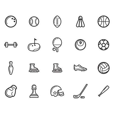 Set von Sport-Icons