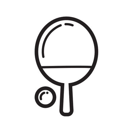 on the table: table tennis Illustration