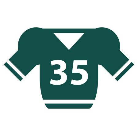 jersey: american football jersey Illustration