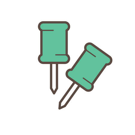 Een push pins illustratie.