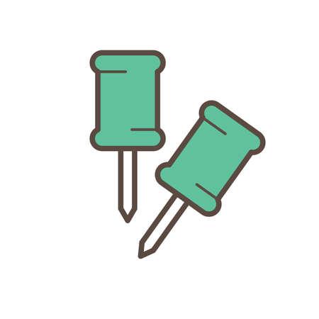 A push pins illustration.